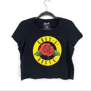 Bravado Guns N Roses Graphic Crop Tee Size M